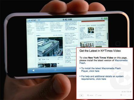 Mossberg hints at Flash update for iPhone