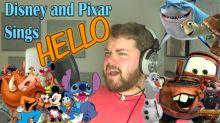 Un joven imita 21 voces de personajes Disney cantando 'Hello'