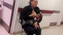 Police officer who breastfed crying baby in a hospital is hailed a hero