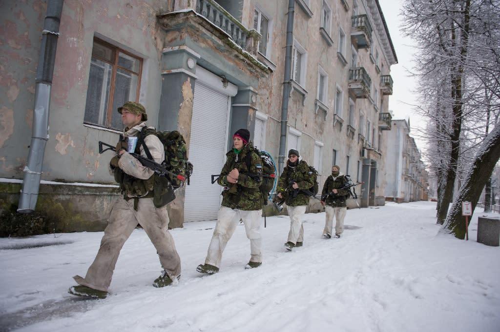 Estonians hope membership of NATO will provide security against their powerful neighbour, Russia (AFP Photo/Raigo Pajula)