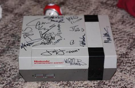 NES signed by gaming industry superstars auctioning off for charity