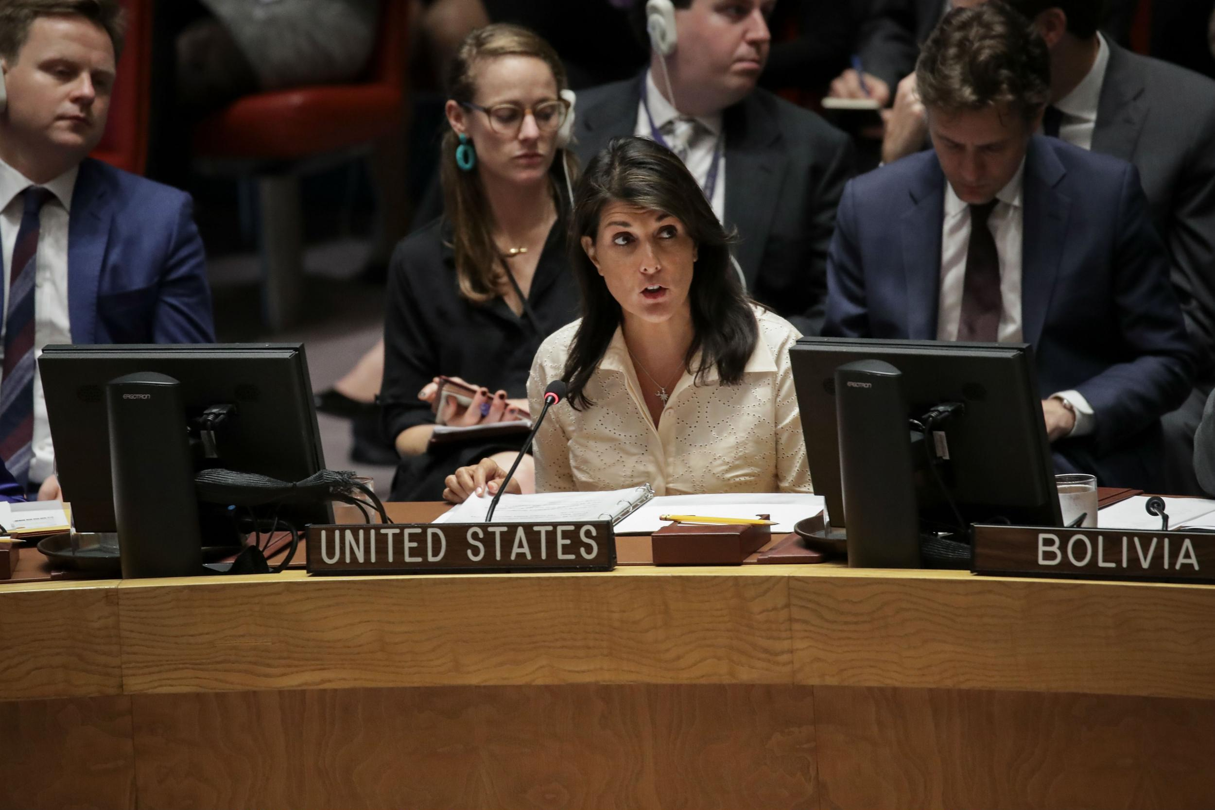 US Ambassador Nikki Haley tells UN 'no country in this chamber would act with more restraint than Israel has'