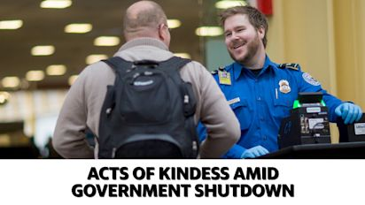 Acts of kindness amid government shutdown
