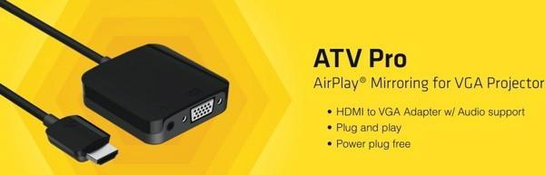 Kanex unveils ATV Pro, gives VGA projectors the power of AirPlay mirroring