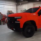 2019 Chevy Silverado Trail Boss recreated in life-size with Lego bricks