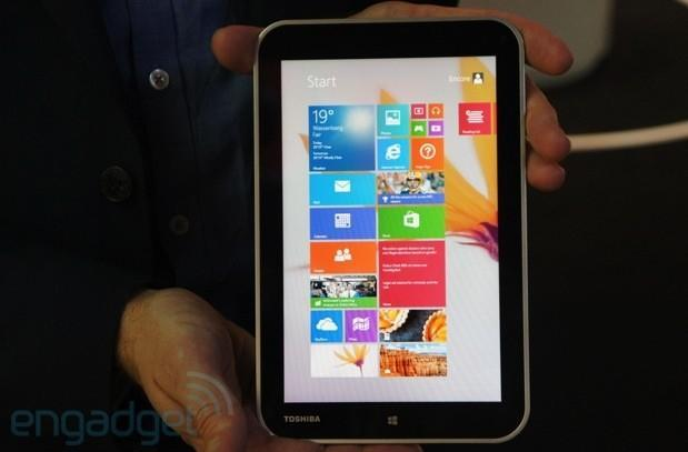 Toshiba Encore is the company's first 8-inch Windows tablet; coming November for $330 (hands-on)