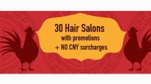 33 hair and beauty salons with no CNY surcharges during Chinese New Year 2017
