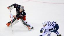 Elvis Merzlikins will start at goalie for Blue Jackets in Game 4 vs. Maple Leafs