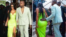Dresscode verpeilt? Kim Kardashian und Kanye West im skurrilen Hochzeitsfeier-Look