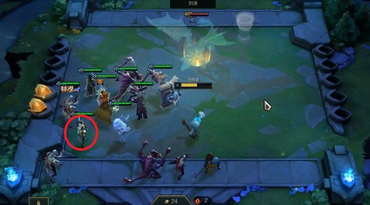 此為守護者抱團隊伍編排方式,可以看見隊伍幾乎圍繞著兩個守護者以期能得到物防增加的buff。