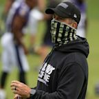 John Harbaugh calls coaching and teaching with a mask 'challenging'