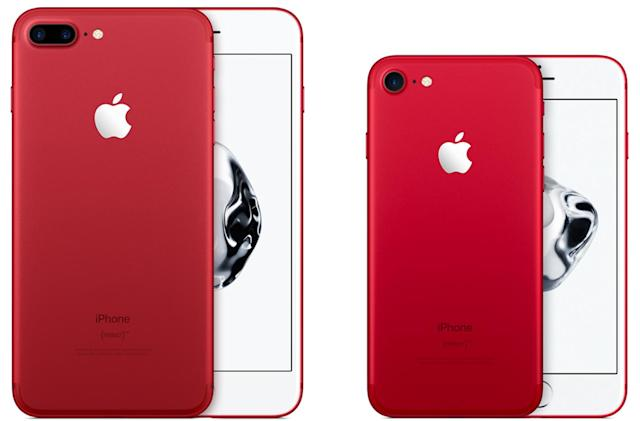 Apple's iPhone 7 and iPhone 7 Plus now come in red