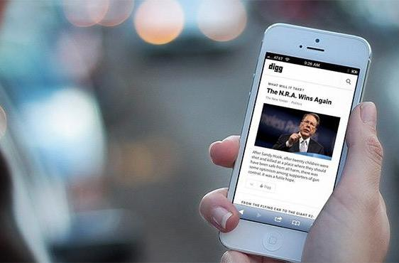 Digg brings its Twitter news fixation to its RSS reader and iOS app