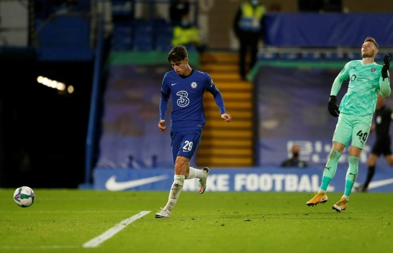 Hat-trick Havertz: Kai Havertz scored his first goals for Chelsea with three in a 6-0 League Cup win over Barnsley