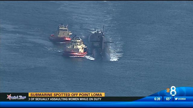 Submarine spotted off Point Loma