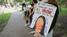 Protesters gather in Saskatoon to demand Canada Day be cancelled