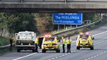 Suspicious package which closed M1 for 10 hours was filled with acid and may have been left deliberately, police reveal