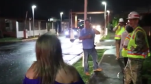 San Juan Residents Cheer as Power Restored Months After Maria