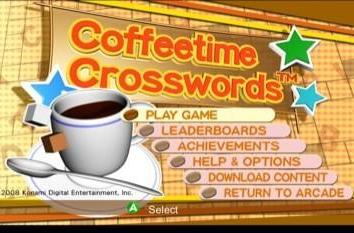 E3 XBLA release is ... Coffeetime Crosswords? [update]