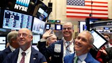 US STOCKS-Disney lifts Dow, S&P 500 to records while trade tensions cast shadow