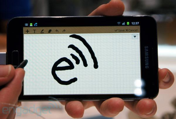 Samsung Galaxy Note hands-on (video)