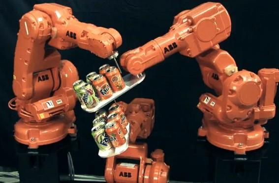 Robots from ABB perform amazing feats of coordination, prove better conversationalists than your average Fantana (video)