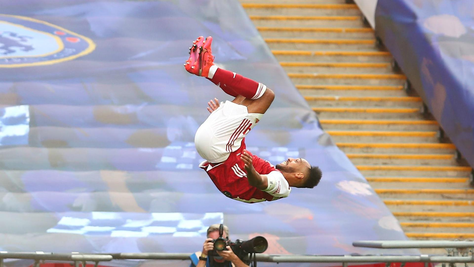 Aubameyang double delight as Gunners win FA Cup