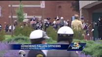 Crowd remembers officers lost, honor one who wasn't