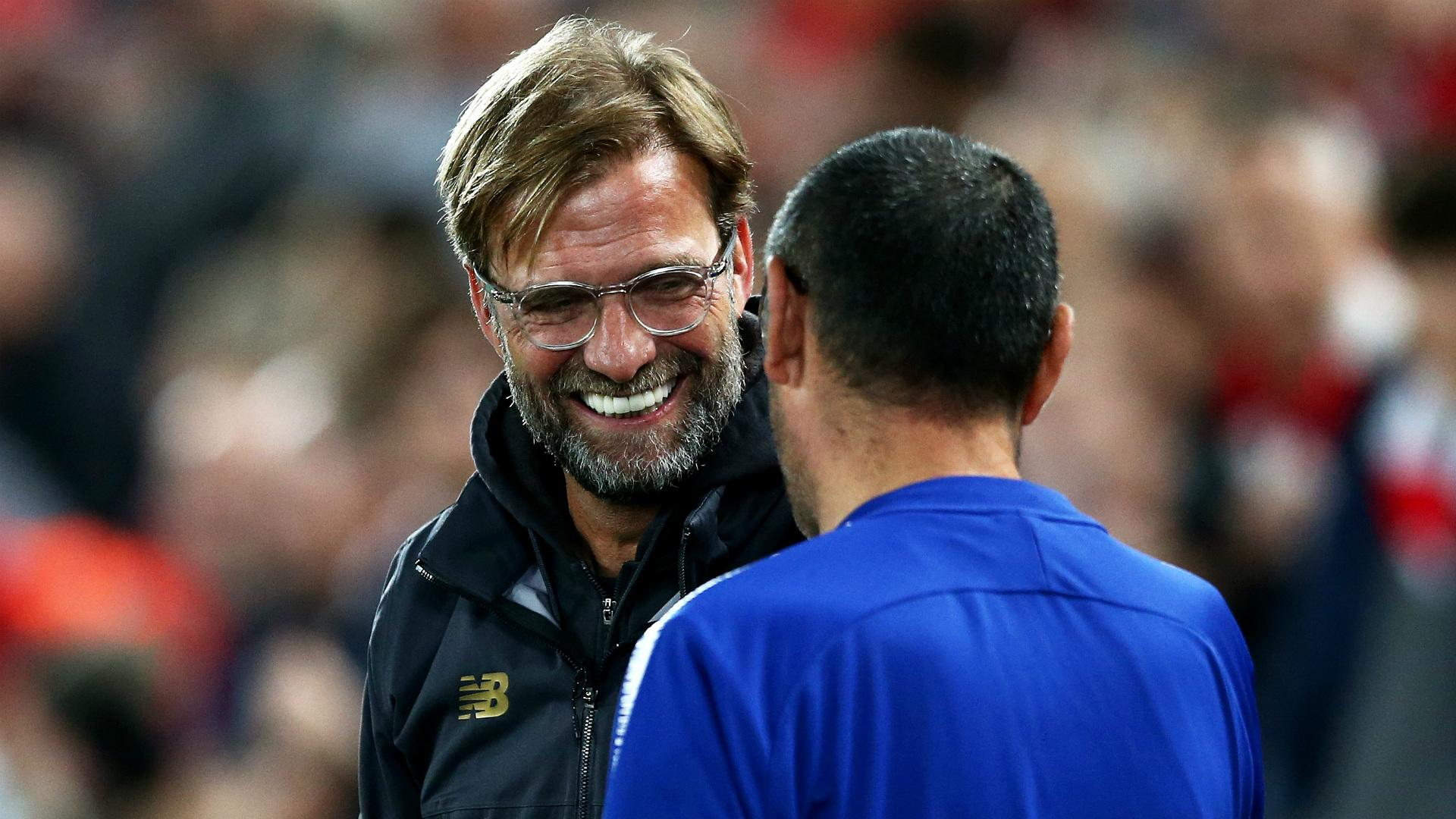 'Why are you smiling?' - Sarri reveals what he said to Klopp after Hazard's goal against Liverpool