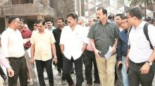 'Solution before March': Jitendra Awhad visits Mumbai's Patra chawl project site