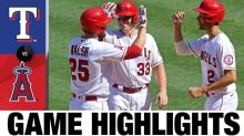 Angels get power from unexpected source, beat Rangers
