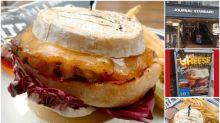 【超邪惡﹞日本超級芝士漢堡 兩塊厚芝士夾麵包