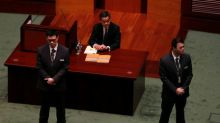 Unsolved problems hang over Hong Kong leader's last policy address