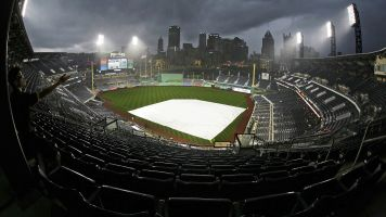 Heavy rain floods PNC Park, hilarity ensues