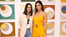 Gêmeas? Bruna Marquezine e Vera Viel se encontram