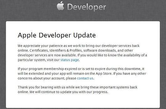 Apple's developer site partially restored after hack