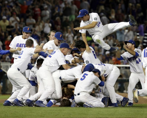 The University of Florida captured its first College World Series after 103 seasons. (AP)