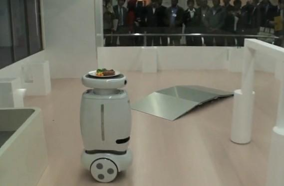 Toshiba's Wheelie robot carries your dinner, doesn't do burnouts (video)