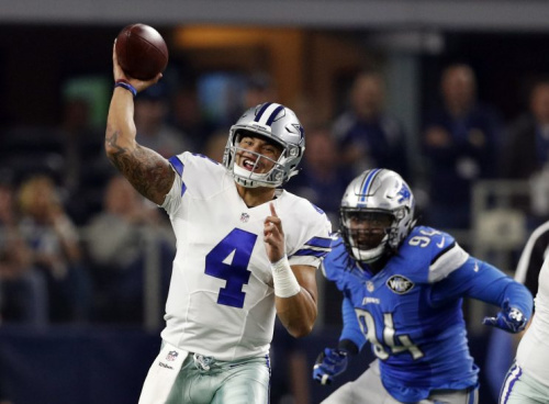 Dak Prescott was named the 14th best player in the NFL in the NFL Network's annual countdown. (AP)