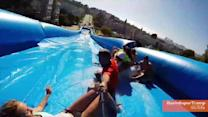 San Francisco Street Turns Into Giant Slip n' Slide