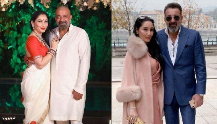 Sanjay Dutt Twins With His Wife, Maanayata Dutt In Black ...