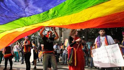 Raw: Gay rights supporters march in India