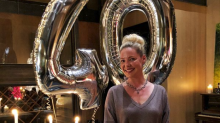 Actress Katherine Heigl admits she's 'thrilled to be 40' on her birthday, and says there's freedom that comes with age