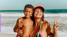 Carol Nakamura desabafa sobre dar aulas para o filho em casa