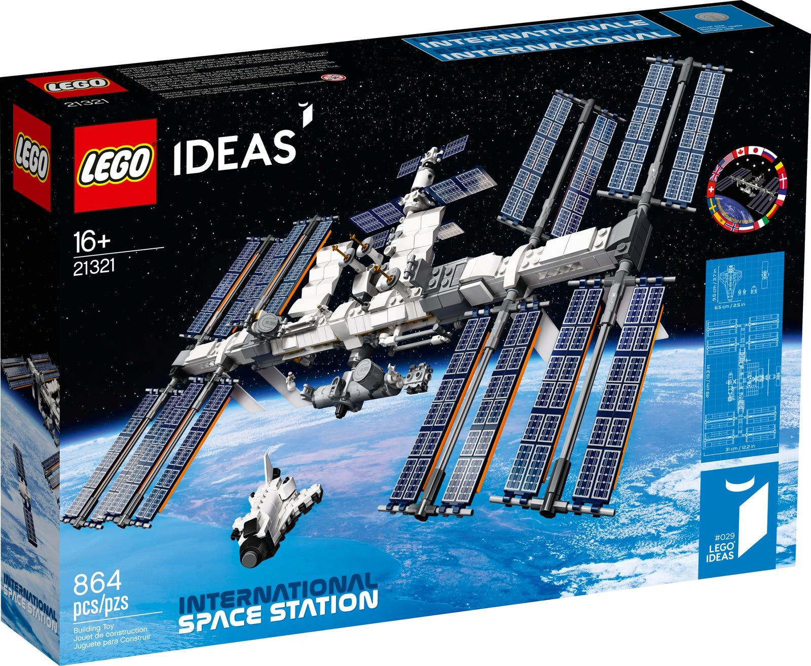 Lego made an International Space Station kit, including Space Shuttle and robotic arm