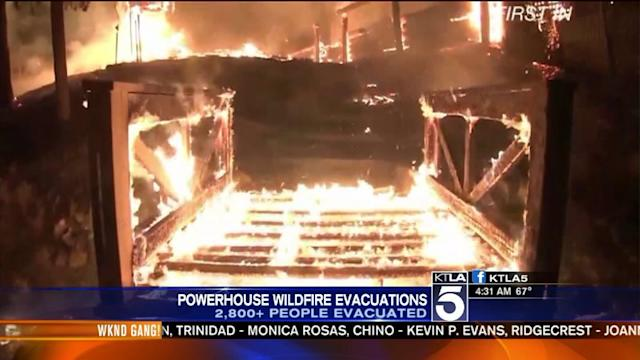 Thousands Evacauted as Powerhouse Fire Rages