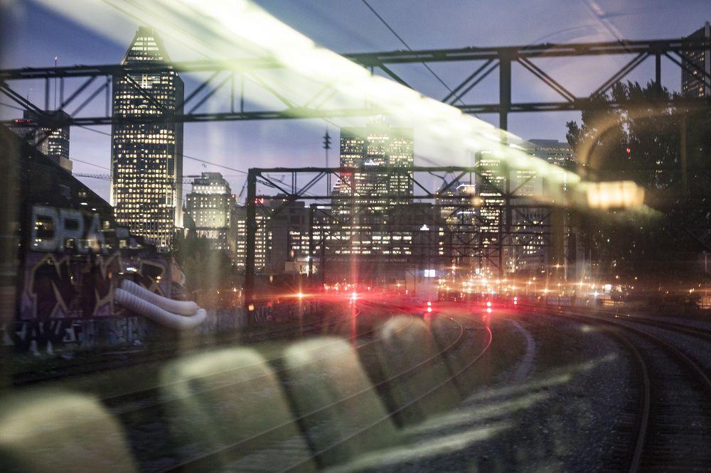 A VIA Rail train passes through Montreal. (Facebook)