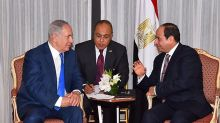 Egypt's Sisi, Israel's Netanyahu meet for first time in public
