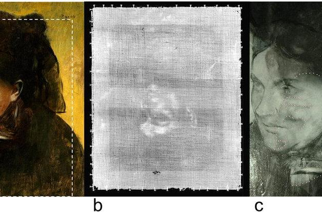 X-ray technique unveils mystery second figure in Degas painting
