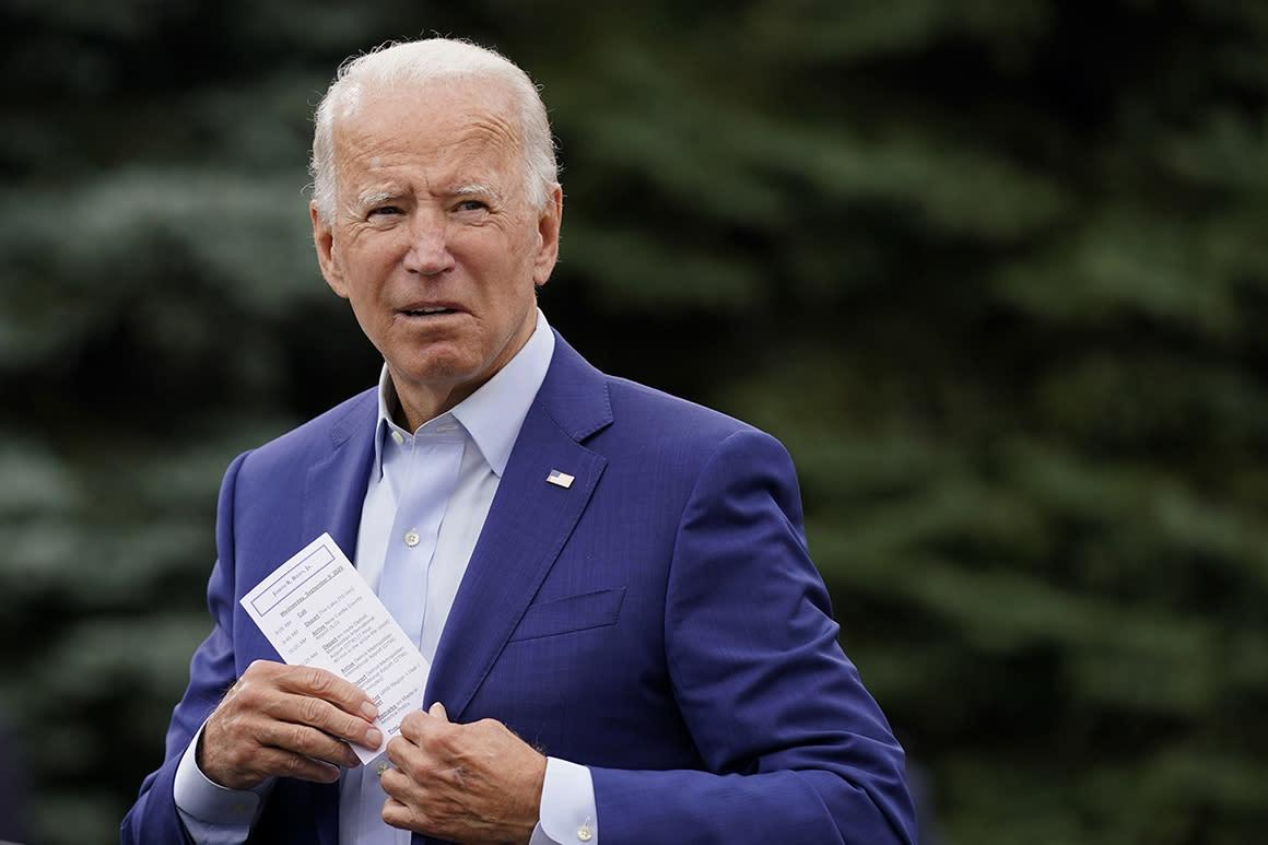 Biden's transition team, fearing Trump's moves, sets massive fundraising goal